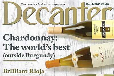 CA' DEL BOSCO<br> CHARDONNAY 2010<br> AMONG OTHER STAR WINES<br>ON AN INTERNATIONAL COVER