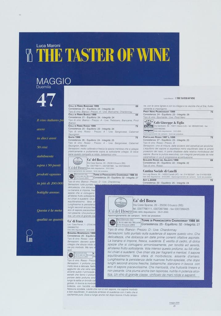 The Taster of Wine 20000501