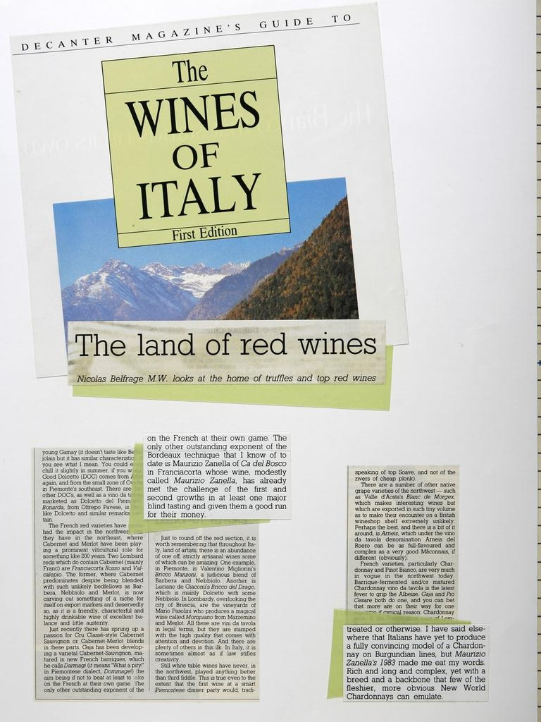 The Wines of Italia 19860101